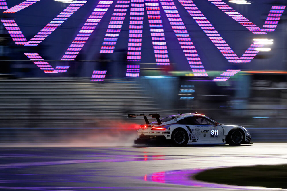 Porsche on the podium at Daytona after strong team effort