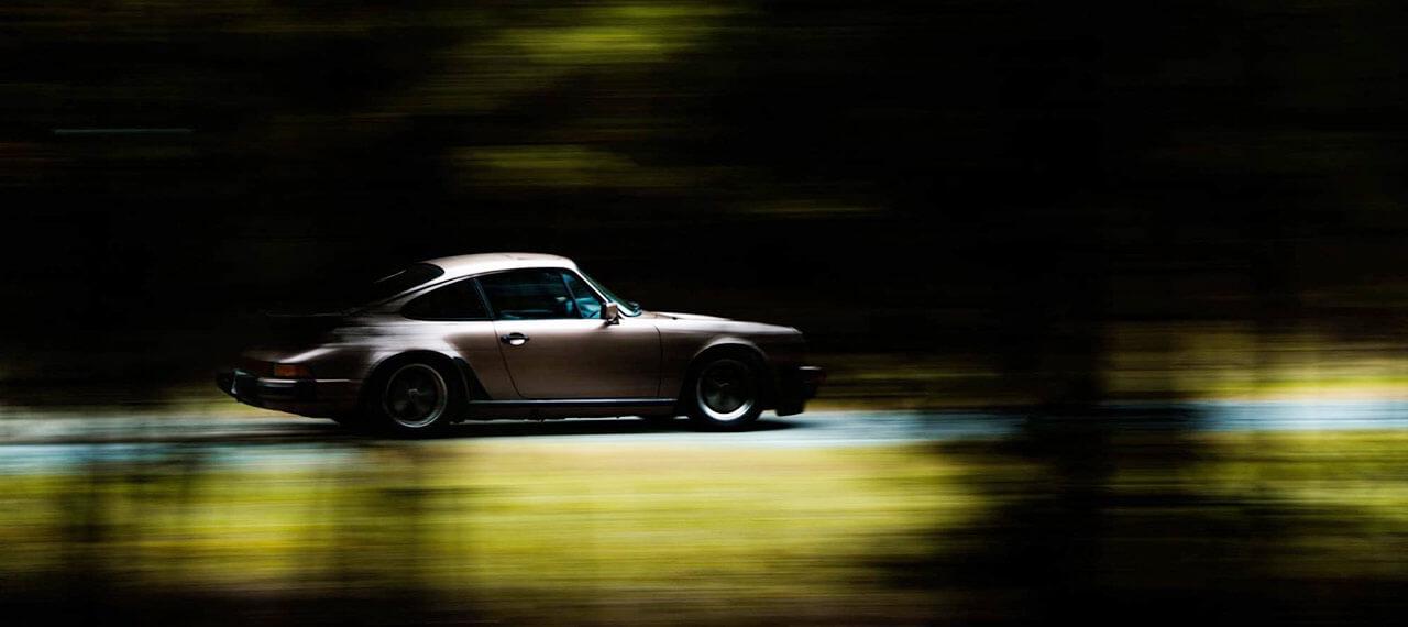 Porsche on the drive